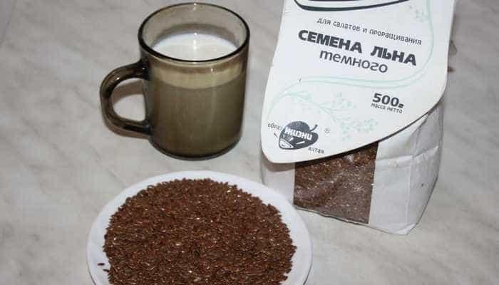 Очистка кишечника семенами льна с кефиром
